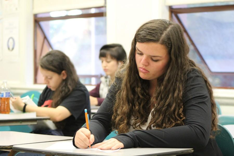 Junior Nova Mitchell spends afternoons in AVID, one of Sequoias efforts to close the achievement gap. In AVID, students learn skills to help them succeed in college.