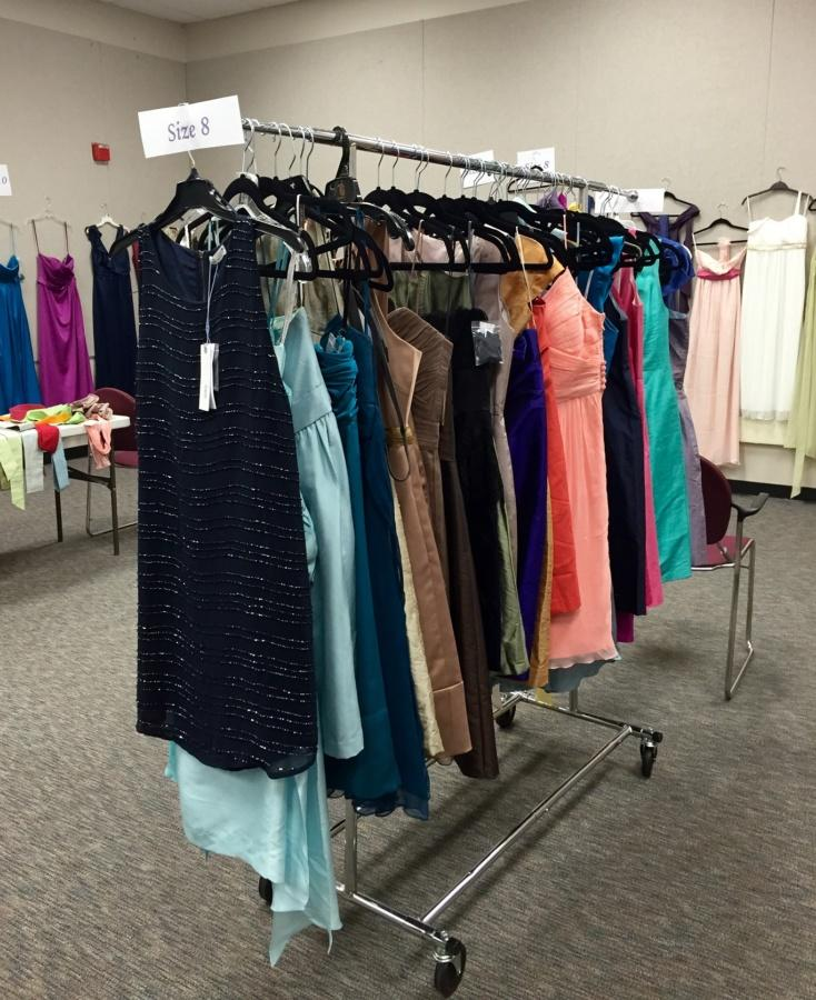 Prom dresses for juniors and seniors were available at a free/reduced price in the Powell Art Gallery from April 27 to 29.