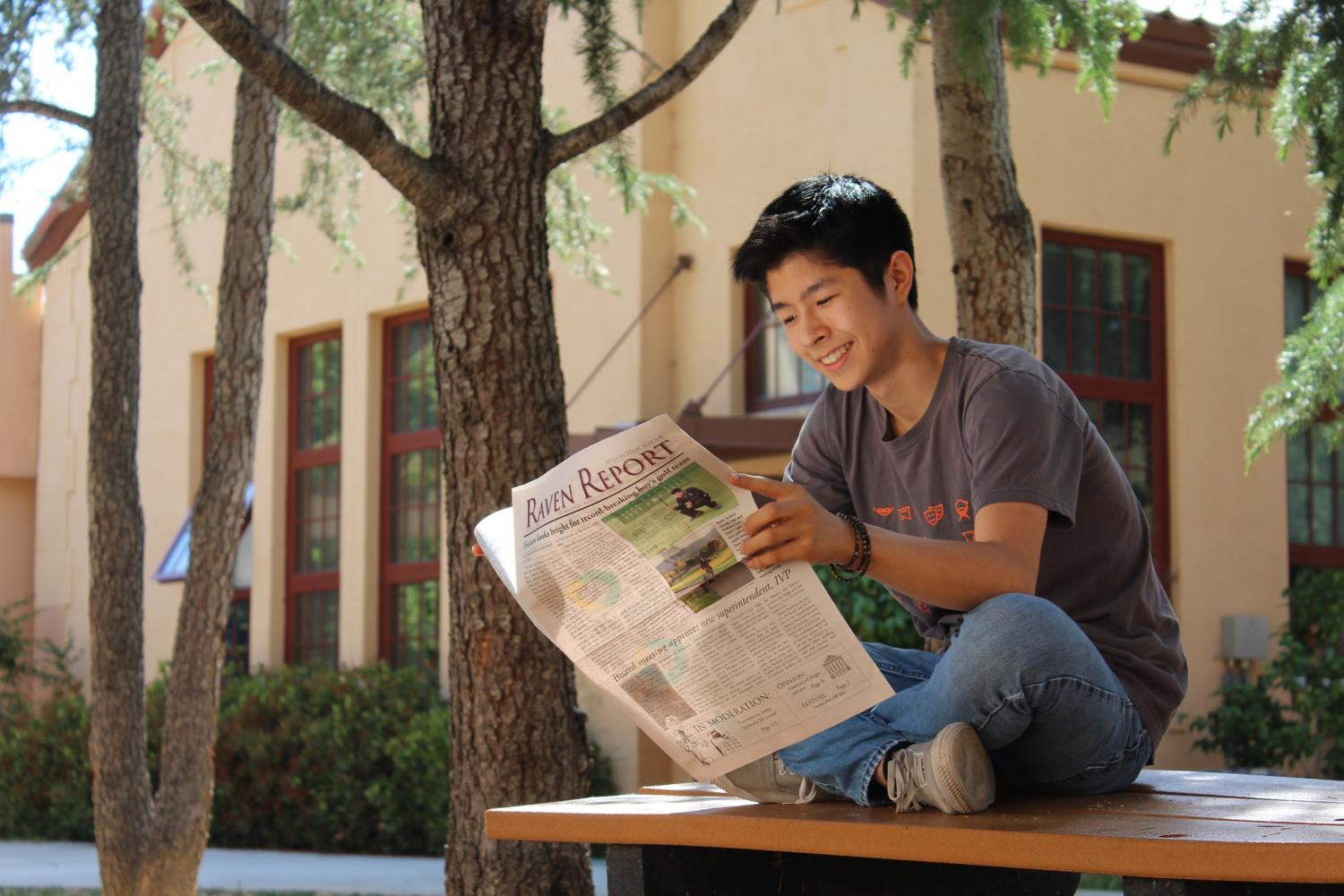 Xavier Boluna, Editor-in-Chief, reads the Raven Report at Sequoia