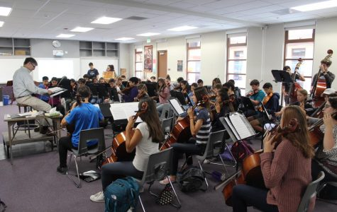 Students in Daniel Broome's seventh-period Orchestra class will apply the skills learned there to the sciences and the humanities.