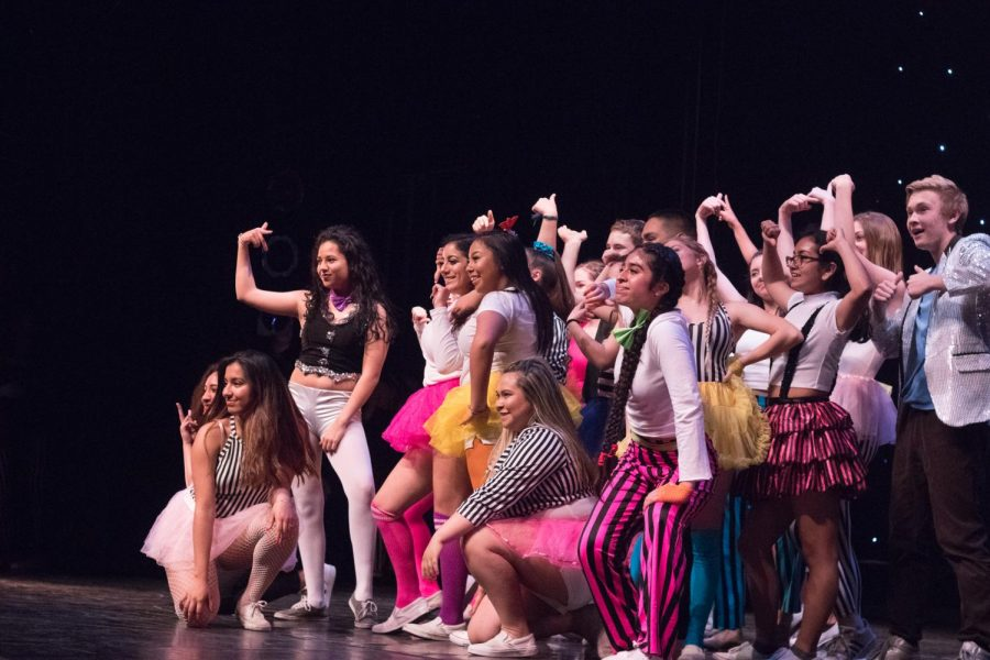"""At the 50th Sequoia Dance Show, Intermediate Dance students perform """"Circus,"""" an act from Homecoming."""